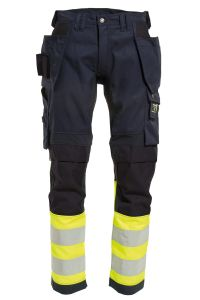 Craftsman trousers with stretch, Color: 94 yellow/navy