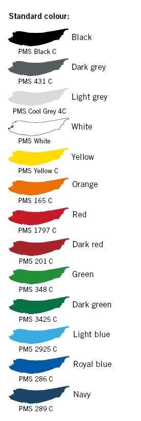 Standard colour heatseal badges